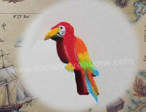 Prenom en bois motif perroquet 1