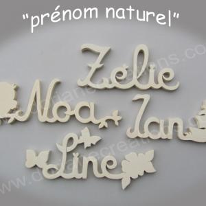 Prenom en bois naturel