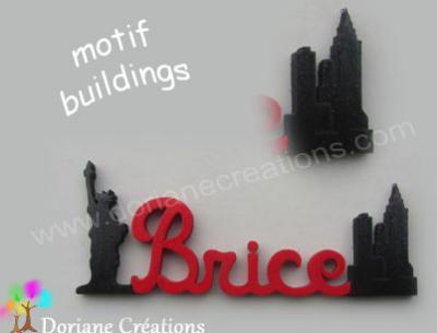 18.1- Motif prénom en bois buildings