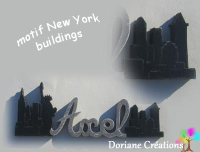 18- Motif prénom en bois buildings New York