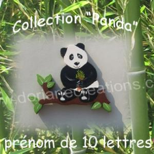 Prenom en bois panda 10 lettres