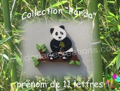 11 Lettres - Prénom en bois panda