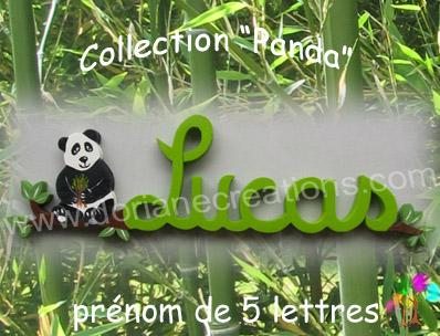 05 Lettres - Prénom en bois panda