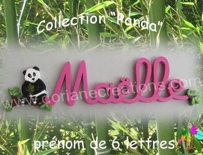 06 Lettres - Prénom en bois panda