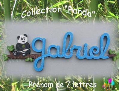 Prenom en bois panda 7 lettres