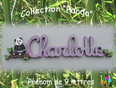 09 Lettres - Prénom en bois panda