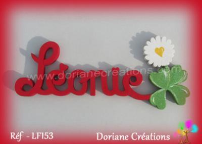 06 lettres - Prénom en bois pâquerette