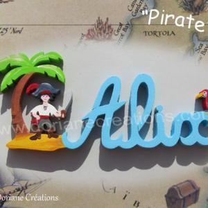 Prenom en bois pirate 4l