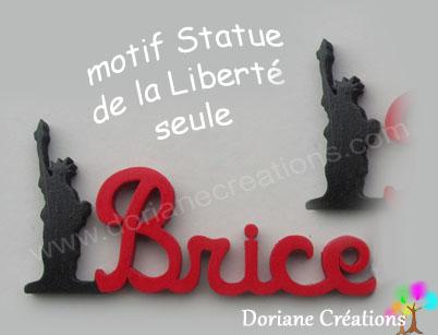 Prenom en bois statue de la liberte seule