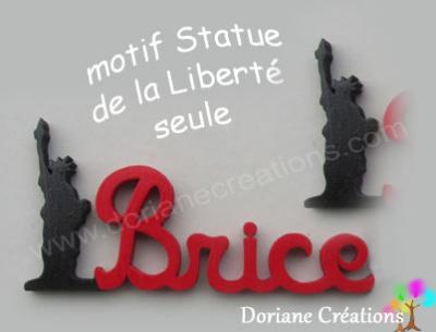 17- Motif prénom en bois Statue de la Liberté