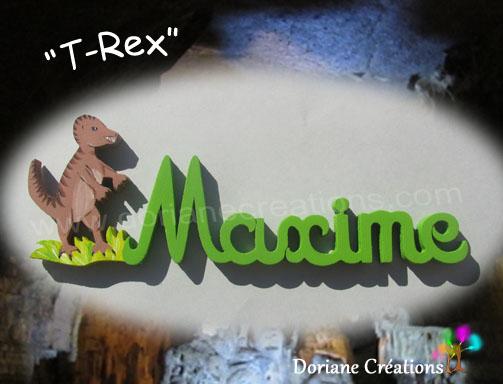 Prenom en bois t rex 6lettres 1