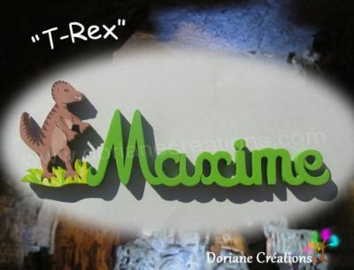 06 Lettres- Prénom en bois T-Rex
