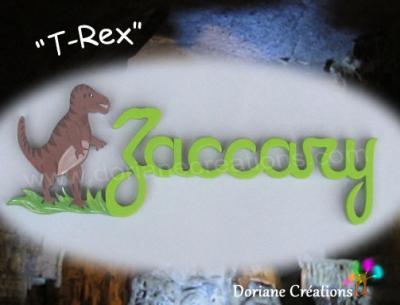 07 Lettres- Prénom en bois T-Rex