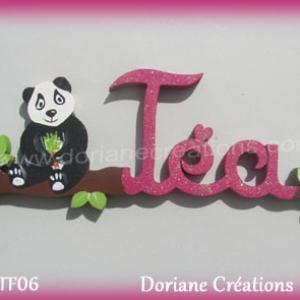 Prenom en bois tea 1