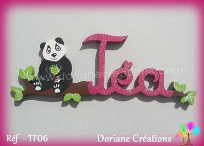 Prenom en bois tea