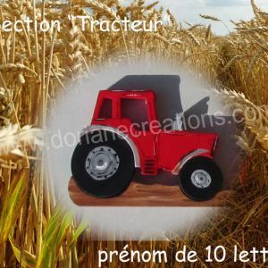 Prenom en bois tracteur 10l 1