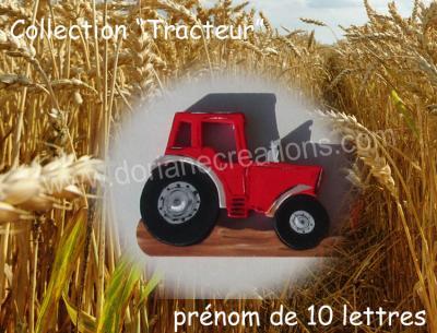 10 lettres- prénom en bois tracteur
