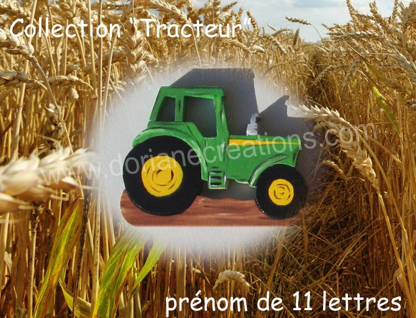 Prenom en bois tracteur 11l