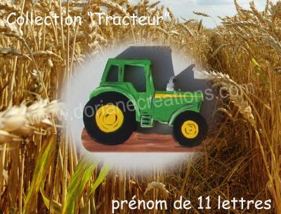 11 lettres- prénom en bois tracteur