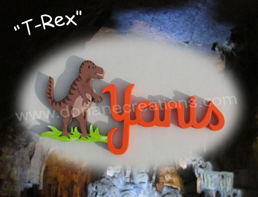 Prenom en bois yanis t rex