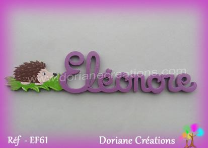Prenom lettre bois eleonore herisson