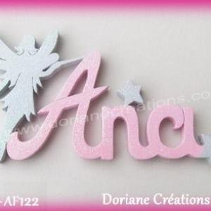 Prenom lettres bois ana fee