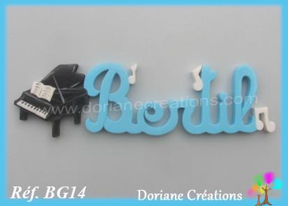 Prenom lettres bois bertil piano