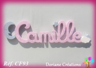 Prénom lettres en bois Camille
