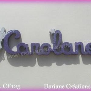 Prenom lettres bois carolane fee