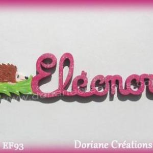 Prenom lettres bois eleonore herisson
