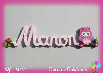 Prenom lettres bois manon