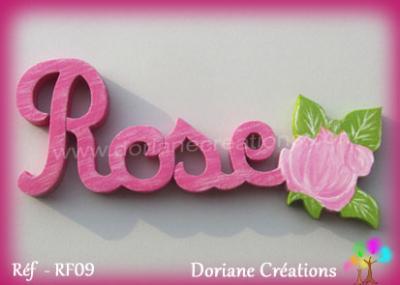 Prénom lettres bois décor rose