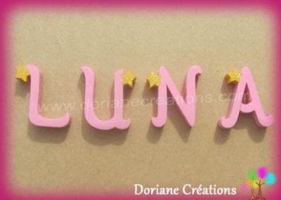 Lettres en bois étoiles LUNA