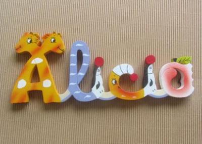 Prénom lettres en bois Alicia
