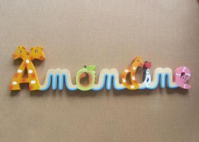 Prénom lettres en bois Amandine