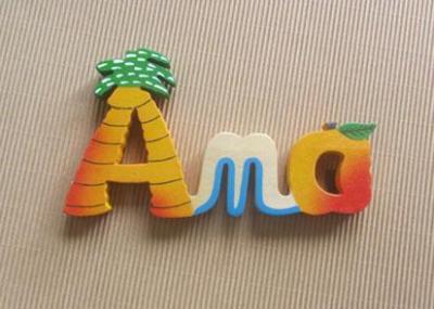 Prénom lettres en bois Ana