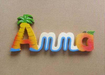 Prénom lettres en bois Anna