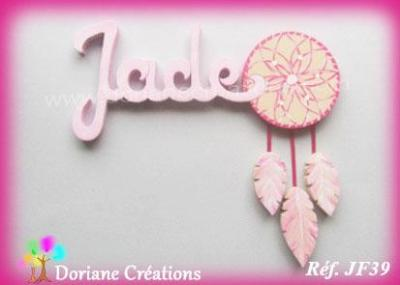 Prénom lettres en bois Jade