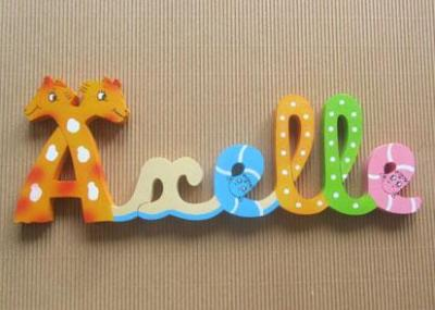 Prénom lettres en bois Axelle