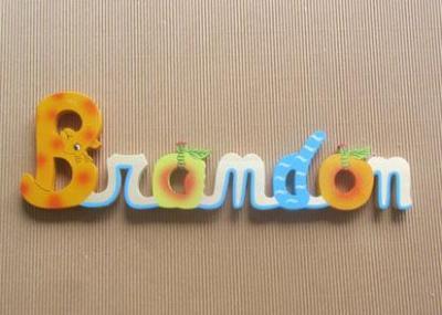 Prénom lettres en bois Brandon