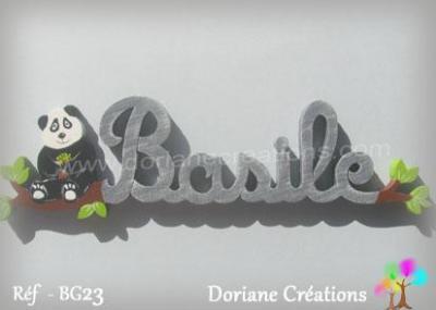 Prénom lettres en bois Basile