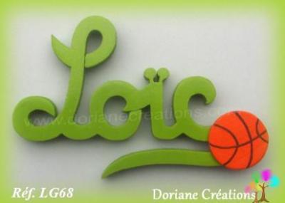 Prénom lettres bois signature sport