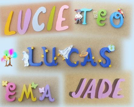 Prenombois boutique lettres murales