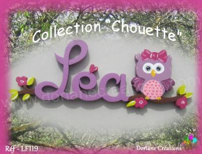 03 Lettres - Prénom en bois chouette