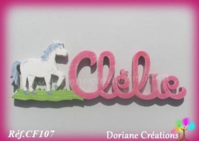 Prénom lettres en bois Clélie