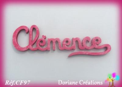 Prénom lettres en bois Clémence