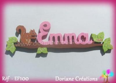 Prénom lettres en bois Emma
