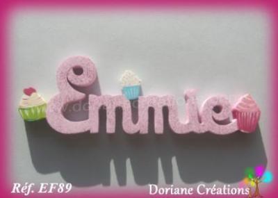 Prénom lettres en bois Emmie