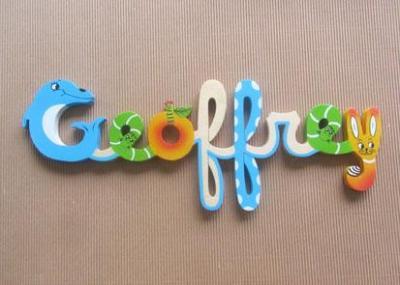 Prénom lettres en bois Geoffrey