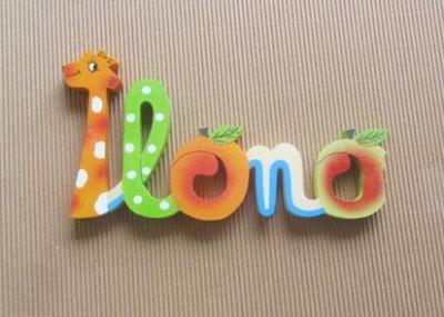 Prénom lettres en bois Ilona